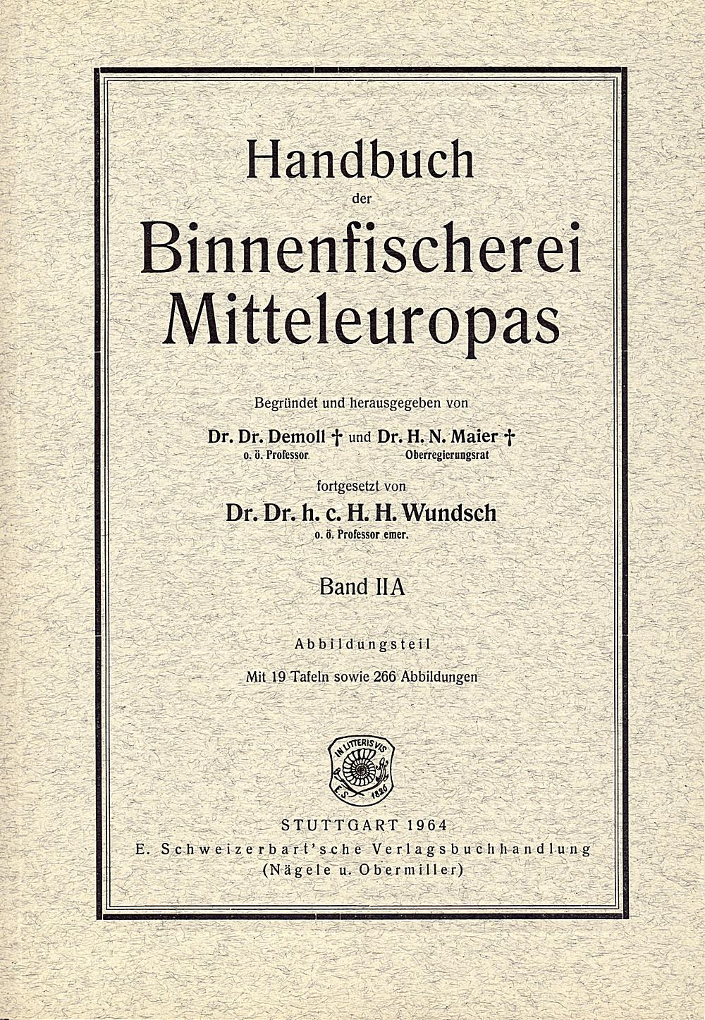 Anatomie der Fische — Schweizerbart science publishers